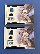 2011-12 Artifacts Horizontal Patches Tags Black Sp 1/2 And 2/2 Patrick Roy