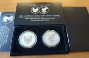 2021 American Silver Eagle Reverse Proof Two Coin Set. Designer Edition. Ogp.