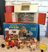 Vintage 1968 Fisher Price Little People Farm 915 Complete Box Hex Screw Animals