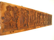 Very Old Antique Speculatius Cookie Mold Hand Carved Wooden Springerle Form