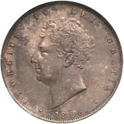 Great Britain George Iv 1826 Half-crown Silver Coin, Certified Anacs Au-50