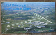 Vintage 1994 Wisconsin Aeronautical Chart - Aircraft Collectible - Wi Airports