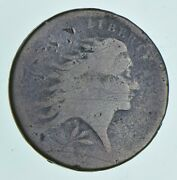 1793 Flowing Hair Large Cent - Wreath Reverse 4982