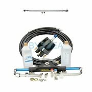 150hp Boat Hydraulic Steering System Dual Engine Outboard Kit W/ 60-80cm Tie Bar