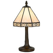 Cal Lighting Bo-2385ac Table Lamp With Stained Glass Shades Antique Brass