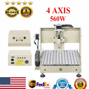 4 Axis 560w 3040t Cnc Router Engraver Engraving Drilling Milling Cutter Machine
