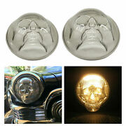 Skull Headlight Covers Lampshades Pc Resin Material Parts For Car Truck