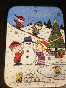 Danbury Mint Peanuts Snoopy Christmas With Charlie Brown Display Plate No. 3