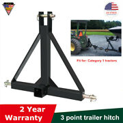 """3 Point 2"""" Receiver Trailer Hitch Tractor Tow Hitch Drawbar Adapter Category One"""
