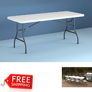 Cosco 8 Foot X 30 Inch Centerfold Folding Table Color White_free Shipping