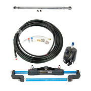 300hp Boat Hydraulic Steering System Dual Engine Outboard Kit W/ 60-80cm Tie Bar