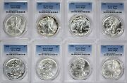 1986-2021 American Silver Eagles Complete 37-coin Set Each Graded Pcgs Ms69
