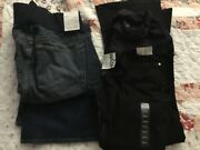 New Gap Womenandrsquos Denim 2 Pair Jeans Maternity Sexy Boot Low Rise Size 29/8