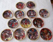 Large Lot Of13- Michael Jordan Collection Collectors Plate. 0292