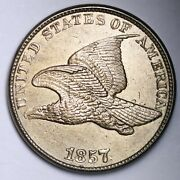 1857 Flying Eagle Cent Penny Choice Bu Uncirculated Ms Free Shipping E102 Zlkr