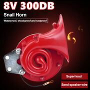 Train 300db 8v Loud Electric Snail Air Horn For Motorcycle Car Truck Boat A6s3