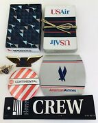Vintage Airline Collectibles Pins, Cards, Tags Usair, American, Continental