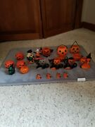 Vintage 1950and039s Rosbro Halloween Candy Containers Plus +++