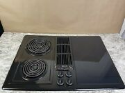 """Jenn Air 30"""" Electric Downdraft Cooktop Glass Jed8230adb Black Great Condition"""