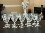 """Harcourt By Baccarat Crystal Sherry 4.75""""tall Made In France. Set Of Eleven"""