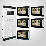 7 Hands-free Video Door Entry Intercom Kit+lock Release Button For House/flat
