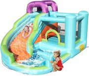 Inflatable Bouncy Bounce House Castle Play House Jumper Room W/ Water Slide Safe
