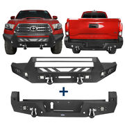 Textured Front + Rear Bumper Bars Combo Assembly W/ Led Lights For 16-21 Tacoma