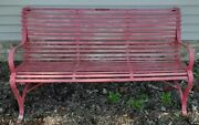 Vintage Wrought Iron Park/garden Bench By The Vandorn Iron Works - Cleveland Oh