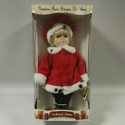 Collectors Choice Genuine Fine Bisque Porcelain Holiday Doll 12andrdquo Y26321aa