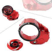 Clear Clutch Cover Protector Guard For Ducati X-diavel 2019-2020 Red Black