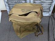 Ww2 Usmc Tbx Radio Canvas Carrying Case Type Cwp 10027a Bag Pack Usn Scr