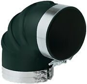 Trident Tri Rubber Elbow/clamps Size 8 Option 90 Degree