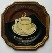 Marco Fabiano Tamsan Hand Painted Porcelain Wall Plate Latte Discontinued