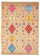 Vintage Geometric Hand-knotted Carpet 8and03910 X 12and0393 Traditional Wool Area Rug
