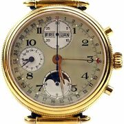 Swiss Made Chronograph Automatic Moon-phases Full Calendar Watch Valjoux 7751