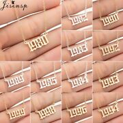 Women Personalize Necklace Special Date Year Number Necklaces Pendants 1994 199