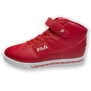 Nwt Fila Vulc 13 Authentic Mens Red White Mid Plus Hi Top Sneakers Size 11 12 13