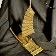 Vintage Chinese Brass Junk Boat