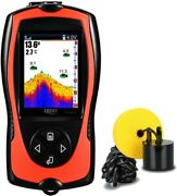 Lucky Wired Portable Rechargeable Fish Finder 328ft Depth Sonar Transducer
