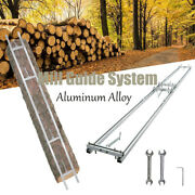 Chainsaw Rail Mill Guide Garden Wooden Tool Aluminum Alloy Silver Wrench Screws