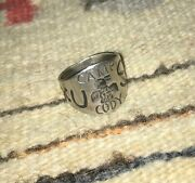 Historic, Navajo, Sterling, Us Camp Cody, Whirling Log Ring - 9. Museum Worthy.