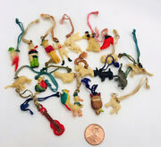 Vintage Lot Of 20 Celluloid Charms Prizes Kobe Japan Colorful Mixture
