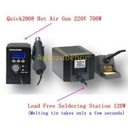 Brand New Esd Hot Air Gun Rework Station With Lead Free Soldering Station 220v