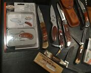 Pocket Knife Lot W/ Schrade Case Xx Browning Sheffield.. With Most Never Used
