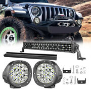 Fit Toyota Bumper Grille 20 150w Led Lamp Wiring Cover+5'' Light Pods Combo 12v