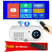 Led Projector Android Wifi Blue-tooth Airplay Hdmi Home Cinema Video Air Mouse