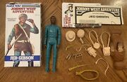 Vintage Marx Johnny West Adventure Jwa Cavalry Scout Jed Gibson Green Body Box