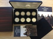 Latvia, Riga 800 Coin Set 8 X 10 Lats Proof- First Edition-