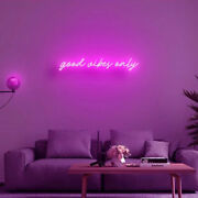110v Acrylic Led Neon Signs Art Wall Lights Good Vibes Only For Beer Bar Club Us
