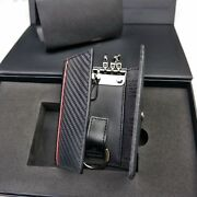 Authentic Tag Heuer Racing Carbon Black Leather Key Holder